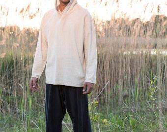 25%Off Sale! Hemp / Organic Cotton Jersey Men's Hoody