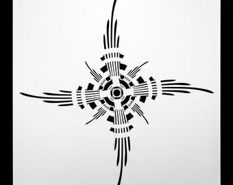 Mocking Jay Bullseye.  Wall / Art / Craft / Painting / Makeup / Furniture / Tattoo / Overlay Air Airbrush Stencil.