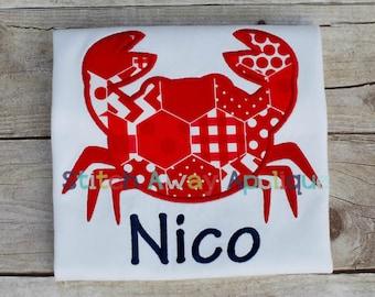 Crab Silhouette Machine Embroidery Applique Design