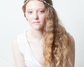Wedding Hair Accessory - Crystal Hairband - Boho Bridal Headpiece - Bohemian Wedding Hair accessory -Bridesmaids Headpiece