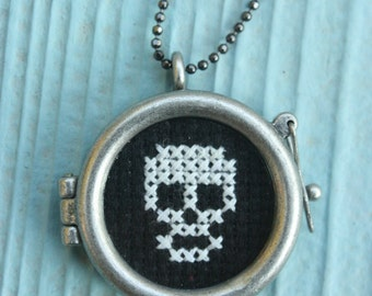 Skull - Cross Stitch Necklace