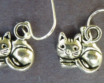 Curled Up Cat Earrings