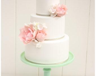 Custom Triple Monogram Wedding Cake Topper -3 Letter Monogram Letter Cake Topper