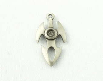 5 Tribal Shield Pewter Charms/Pendants