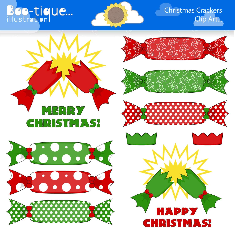 Christmas Cracker Clipart.Christmas Crackers Digital Clipart Christmas Clip Art Xmas