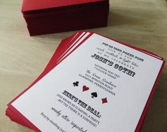 Casino/ Vegas Style Surprise Birthday Party invitation