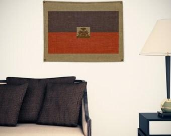 Haiti Burlap Flag (w/ Free Shipping!)