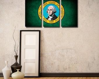 Washington Flag Triptych
