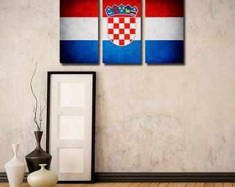 Croatia Flag Triptych (w/ Free Shipping!)