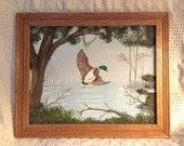 Duck Pond 11 x 14 Acrylic Painting on 100% Acid Free Cotton Canvas Panel