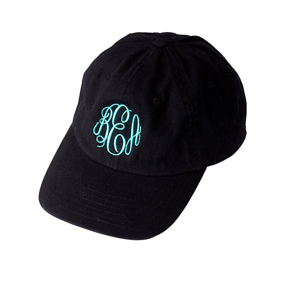 ladies monogrammed baseball caps baby cap hat black monogram personalized beach marley lilly