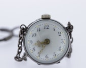 Glass and Silver Orb Pocket Watch  Berman Watch CO