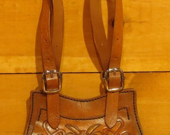 All Leather Purse, Hand carved, tooled and stitched