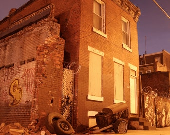 Graffiti Row Home in North Philadelphia Photo Print