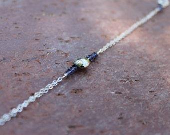 Full Moon Bracelet in Iolite & Pyrite