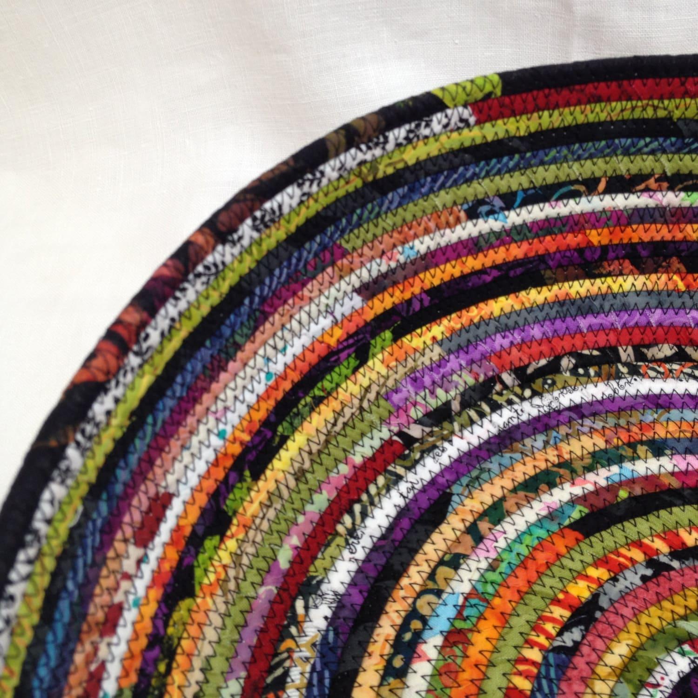 Rag Rug Large: Rag Rug Fabric Basket Extra Large By NanaZebra On Etsy