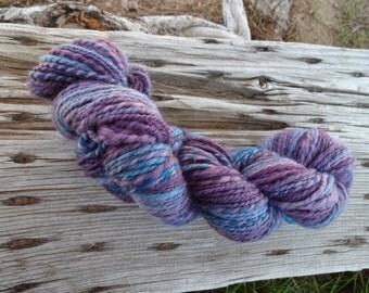 "Handspun yarn ""Mixed Berries"" Merino/BFL 2 ply DK/Worsted 166 yards"