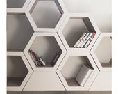 Set Of 3. Honeycomb bookcase. Recyclable Cardboard Bookcase.