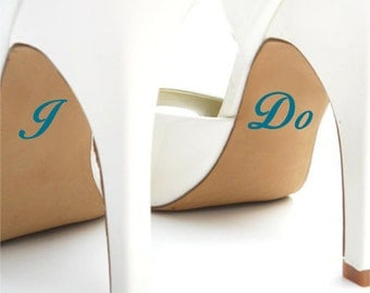 Wedding Shoe Decal / Wedding Shoe Sticker / Personalized Wedding Decal / Personalized Wedding Sticker / I Do Wedding Decal