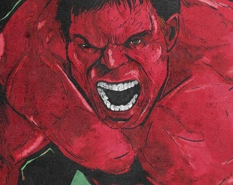Hulk, Red 12x18 Original Art Print