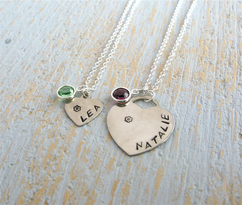 children 39 s name necklace child birthstone necklace. Black Bedroom Furniture Sets. Home Design Ideas