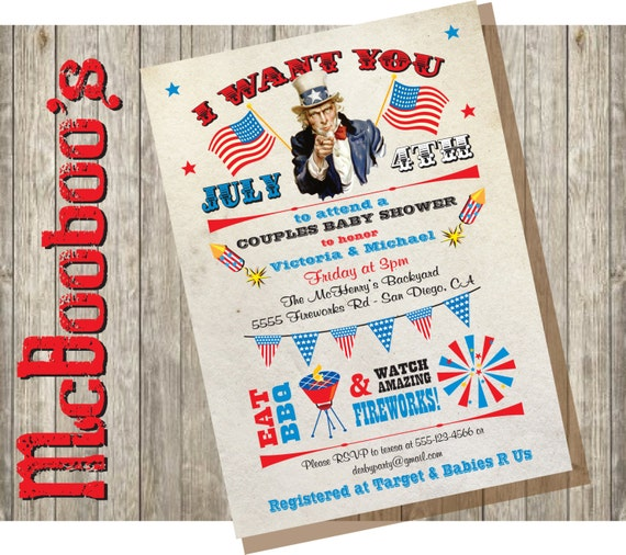 May The Fourth Be With You Baby Shower: 4th Of July Independence Day Bbq & Fireworks Patriotic Baby