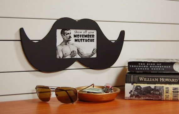 Movember Mustache Shaped Frame