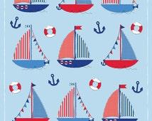 DIGITAL DOWNLOAD - Let Your Dreams Set Sail, Children's Nautical Sailboat Print