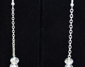 Triple Crystal Drop Earrings
