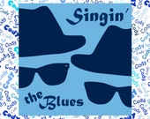 "Singin' the Blues Custom Name Fabric Material for Applique, ITH, & Craft Projects. Full 18""x12"" or Half 12""x8"""