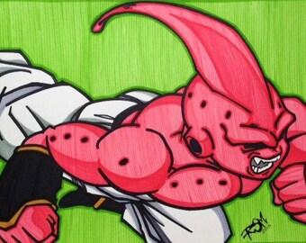 Dragonball Z Comic Style Marker Print 11 x 17 in