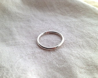 Sterling Silver Round Stacking Ring