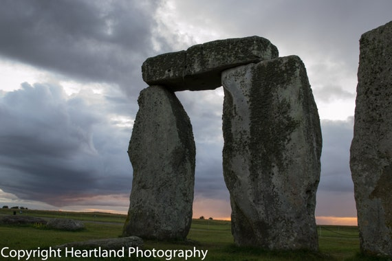 Large Print, Stonehenge,  British Landscape, UK Prints, Cloud Photography, Sunset Photography, 11x17 12x18 16x20, 16x24 20x24 20x30