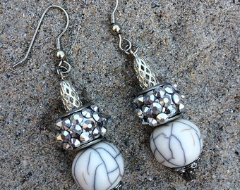 Handmade Dangle Earrings, Boho, Elegant, Celebrity, Runway, Royal, Unique, Rhinestone Earrings, Medieval (Free Bird Earrings (set one)
