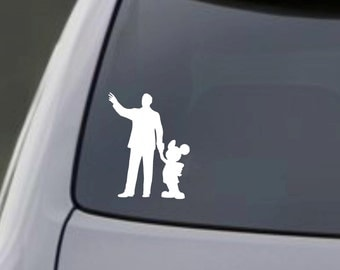 Walt & Mickey Car Decal