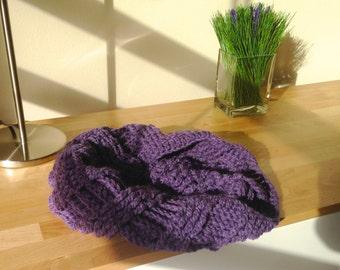 Handmade Lavender Wool Cowl