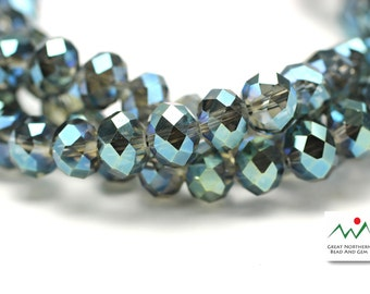 Rondelle Crystal ,8MM X 10MM,Rondelle Shaped Crystal,Chinese Crystal, Full Strand #CRY061893