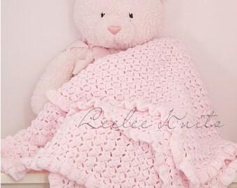 Pattern - Crib Crochet Baby Blanket Pattern