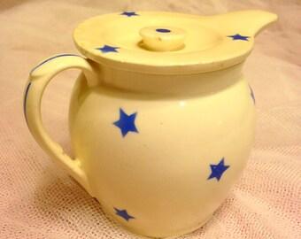Covered Creamer- Czechoslovakian Pottery