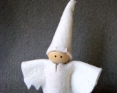 Waldorf Inspired Baby Spooky Ghost Peg Doll ~ Halloween Ghost ~ Ghost Doll ~ Trick or Treater