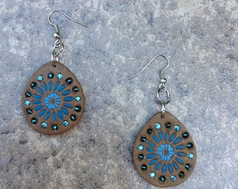 Indian Style Leather Earrings
