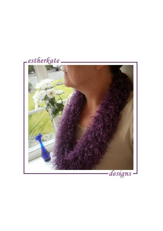 KNITTING PATTERN pdf knifty cowl infinity scarf for