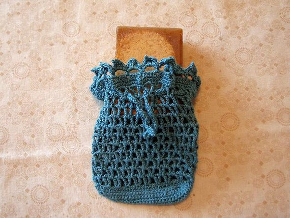 Hand Crocheted Delta Soap Saver/Sachet Bag by MonasCrochet on Etsy