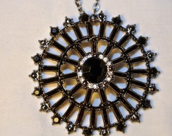 Charcoal and Black Pendant Necklace