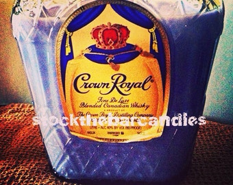 Soy Candle In Crown Royal Bottle Custom