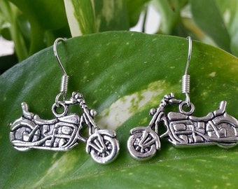 Handmade Harley Davidson Biker Chick Earrings