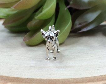 Chihuahua Charm, Chihuahua Pendant, Chihuahua Lover, Dog Lover, Dog Charm, Sterling Silver Charm, Sterling Silver Pendant