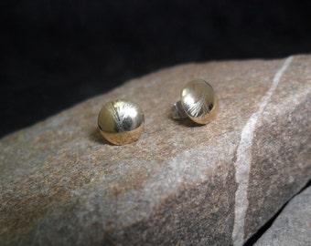 14K yellow gold earrings.
