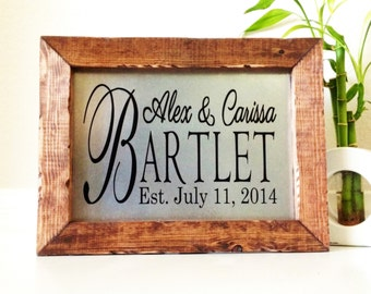 Wedding Gift Last Name Establish Personalized Last Name Sign Wedding Sign