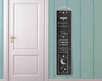 Dream - Personalized Children's Chalkboard Style Growth Chart